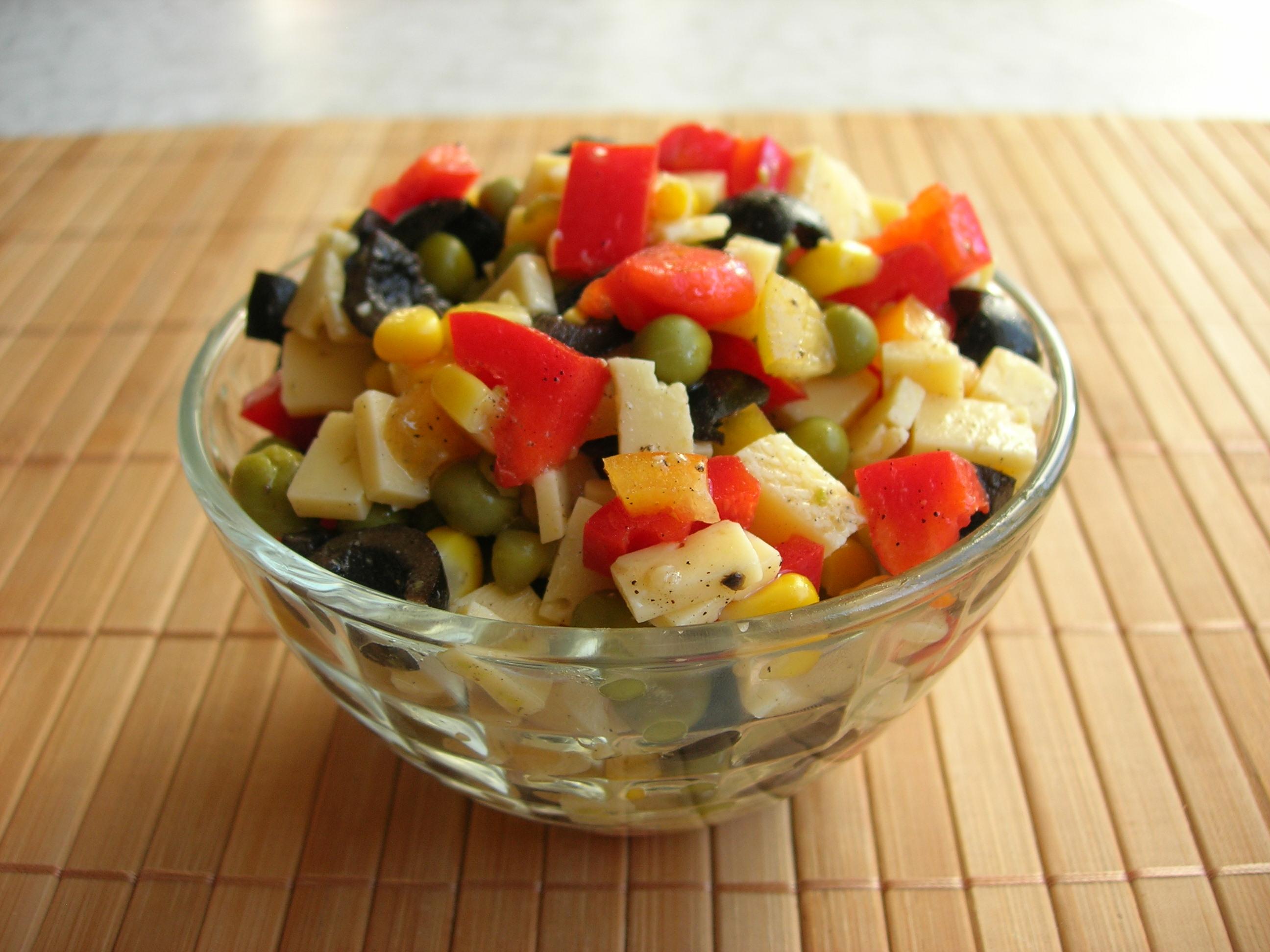 Праздничный салат без майонеза рецепт с фото