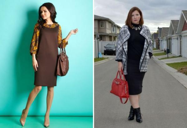 С чем носить трикотажное платье после 40