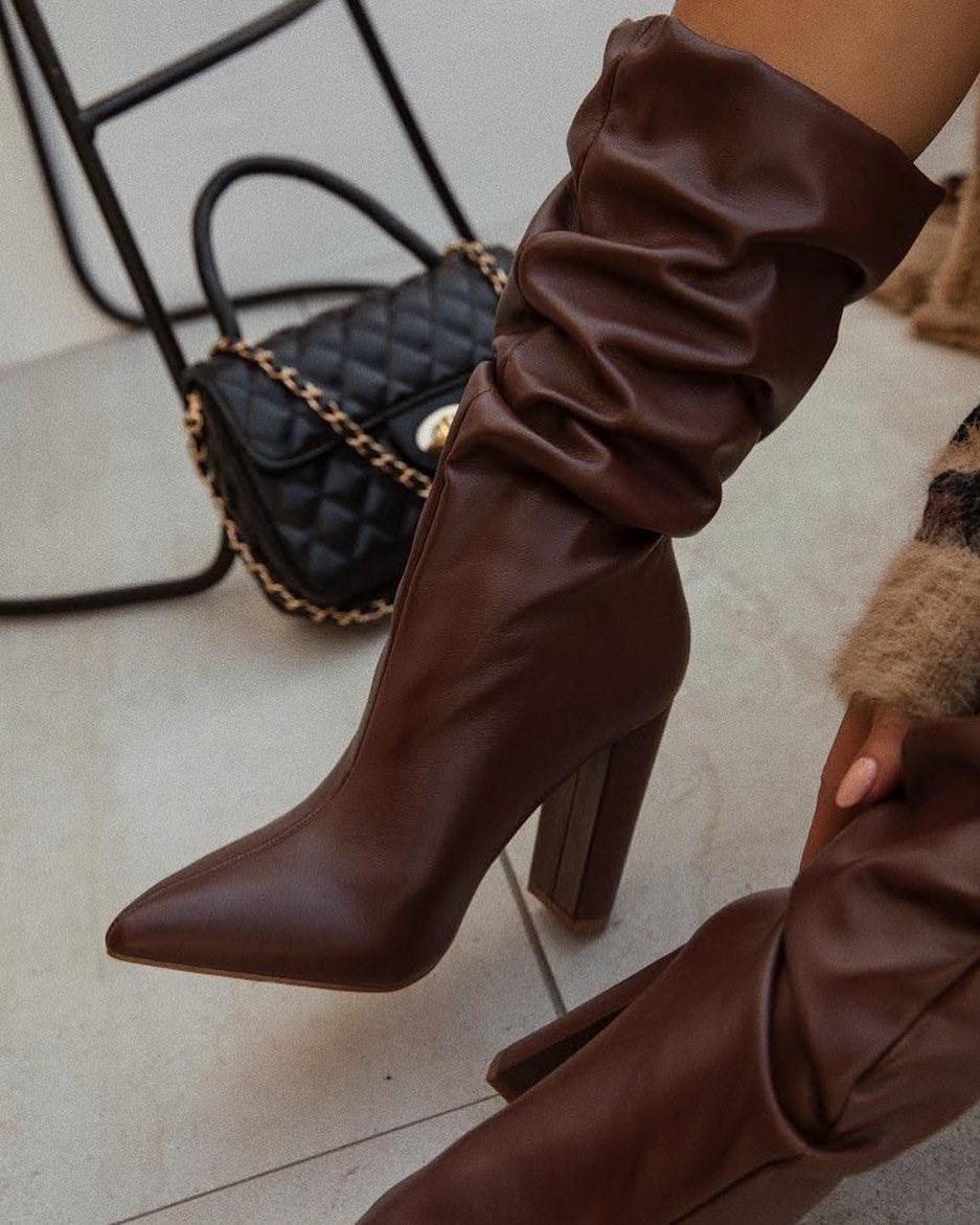 Стильная обувь на каблуке осень-зима 2020-2021